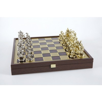 Medieval Knight Green Chess set